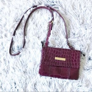 Relic Embossed Reptile Berry Crossbody Bag